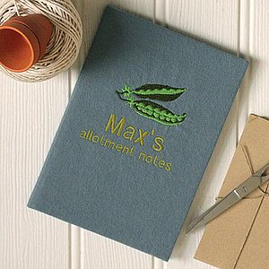 Personalised 'Allotment Notes' Notebook - gardener