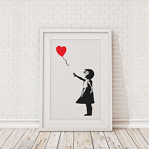 Banksy Balloon Girl Framed Print
