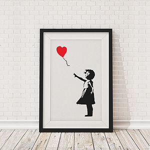 Banksy Balloon Girl Framed Print - posters & prints