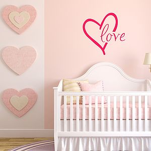 Love Vinyl Wall Sticker - wall stickers