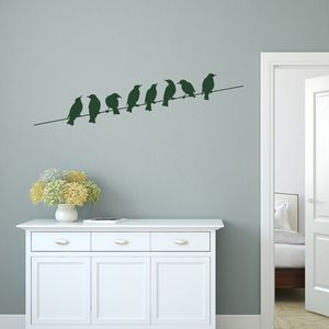 Birds On Wire Vinyl Wall Sticker - home decorating