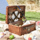 Two Person Rattan Picnic Hamper Set