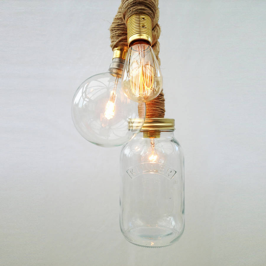 Sisal three bulb rope pendant light by uniques co sisal three bulb rope pendant light aloadofball Image collections