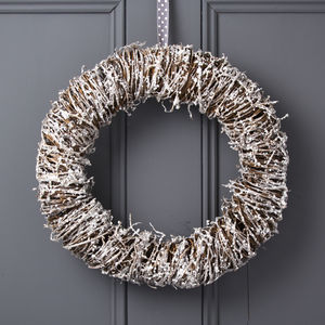 Glitter Twig Woodland Christmas Wreath - christmas sale