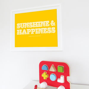 Sunshine And Happiness - posters & prints