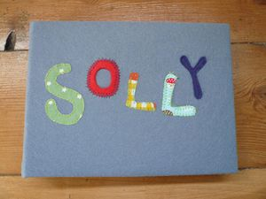 Personalised Felt-Covered Photo Album + DOB - photo albums