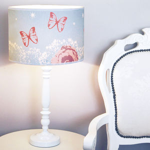 Butterfly And Roses Lampshade - lamp bases & shades
