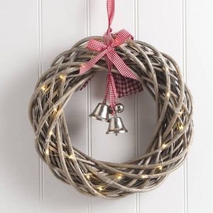 Round Christmas Wreath With Lights - decorative accessories