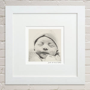 Bespoke New Baby Portrait - nursery pictures & prints