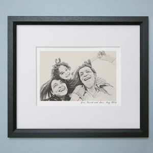 Bespoke Family Portrait - gifts from adult children