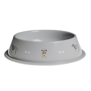 Terrier Tin Dog Bowl