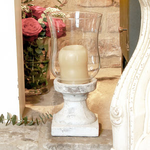 Distressed Candle Lantern - candles & candlesticks