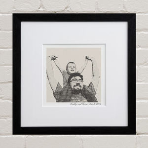 Bespoke Dad Portrait - gifts for new dads