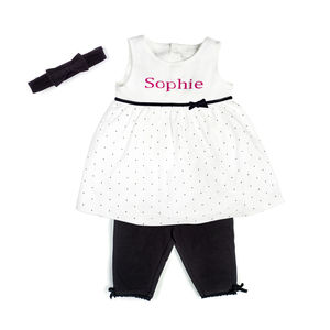 Personalised Dress With Leggings And Hairband - dresses