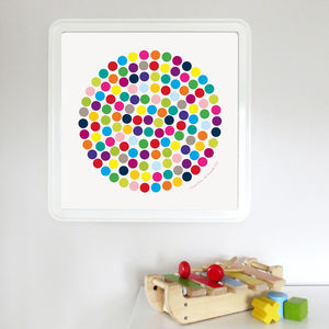 Dotty Colours - nursery pictures & prints