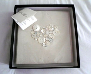 Handmade Mother of Pearl Heart Photo Album - 30th anniversary: pearl