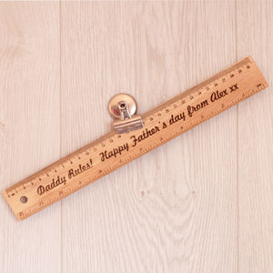 Personalised Engraved Father's Gift Ruler - office & study