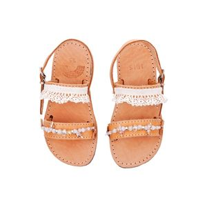 Flower Girl Handmade Leather Sandals - clothing