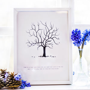 Wedding Fingerprint Tree - less ordinary guest books