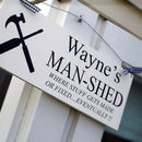 Dad And Grandad Personalised Man Shed Sign