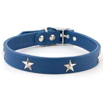 Star Studded Leather Dog Collar