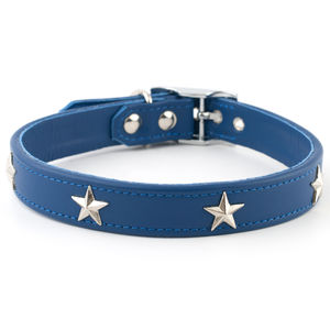 Star Studded Leather Dog Collar - pet collars