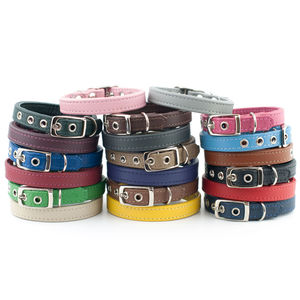 Nappa Leather Dog Collar - walking