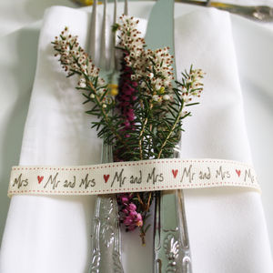'Mr And Mrs' Ribbon - wedding favours
