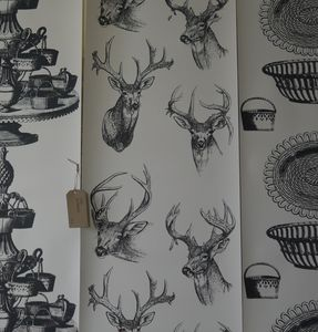 Stags Head Wallpaper - home decorating