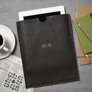 Forest Green Personalised Leather Case For iPad - tech accessories for him