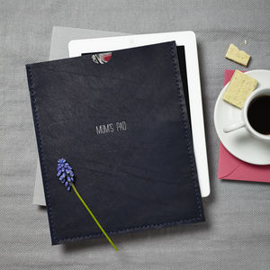 Midnight Blue Leather Case For iPad