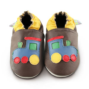 Train Soft Leather Baby Shoes
