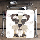 Schnauzer Personalised Dog Placemat/Coaster