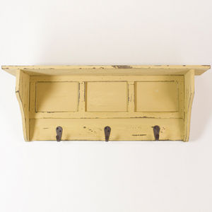 Reclaimed Wood Hall Hook Wall Shelf - furniture
