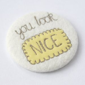 'You Look Nice' Pocket Mirror