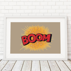 Comic Book Boom! Framed Print
