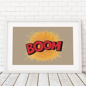 Comic Book Boom! Framed Print