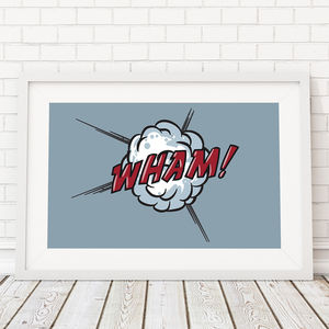 Comic Book Wham! Framed Print