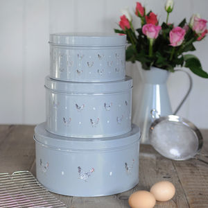 Set Of Three Cake Tins