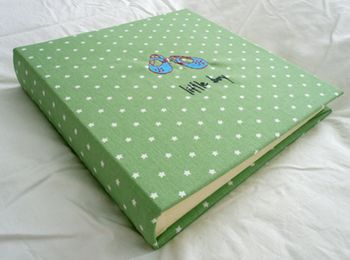 Hand Made Green Star Photo Album PERSONALISED
