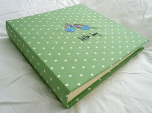 Hand Made Green Star Photo Album PERSONALISED - photo albums