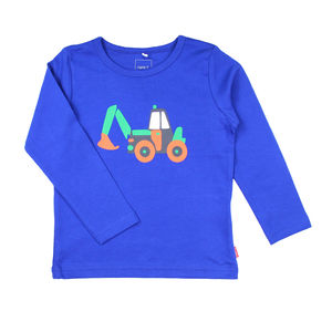 Karl Digger Blue Long Sleeve T Shirt - clothing