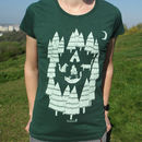 Organic Womens 'Foxes In The Forest' T Shirt
