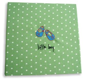 Hand Made Little Boy Green Star Photo Album - keepsakes