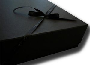 Large Black Presentation Box - gift bags & boxes