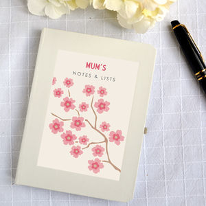 Personalised Blossom Notebook - stationery sale