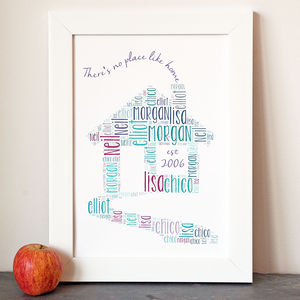 Personalised 'Home' Print