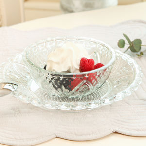 12 Piece Glass Bowl And Plate Summer Dining Set