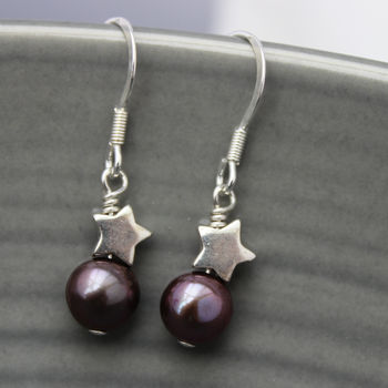 Black Peacock Pearl Earrings