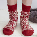 Organic Wool Fair Isle Christmas Socks